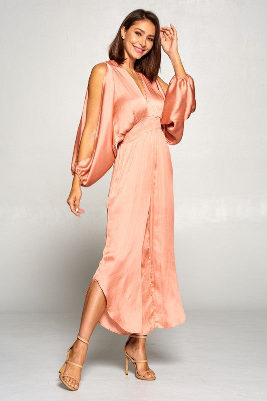 Show-Stopper Jumpsuit in Peach