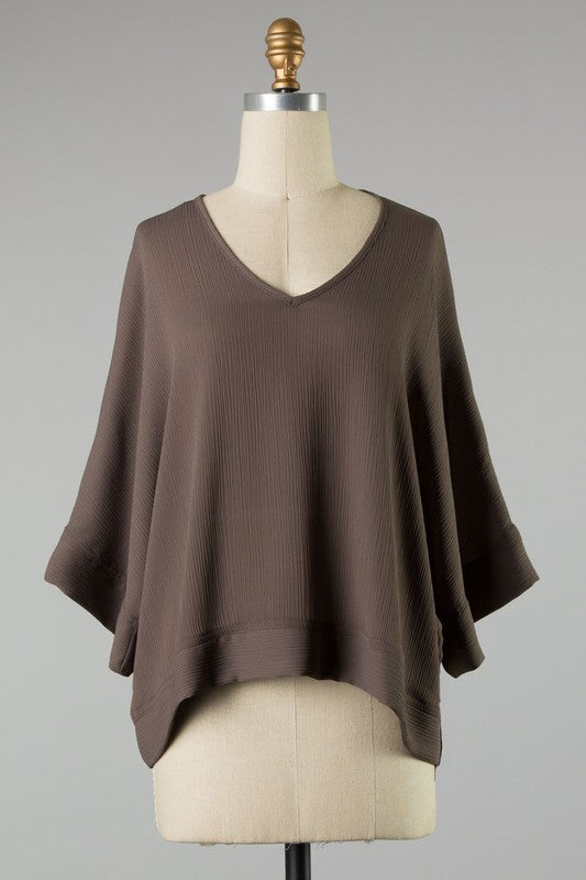 Make It Happen Blouse in Dark Gray