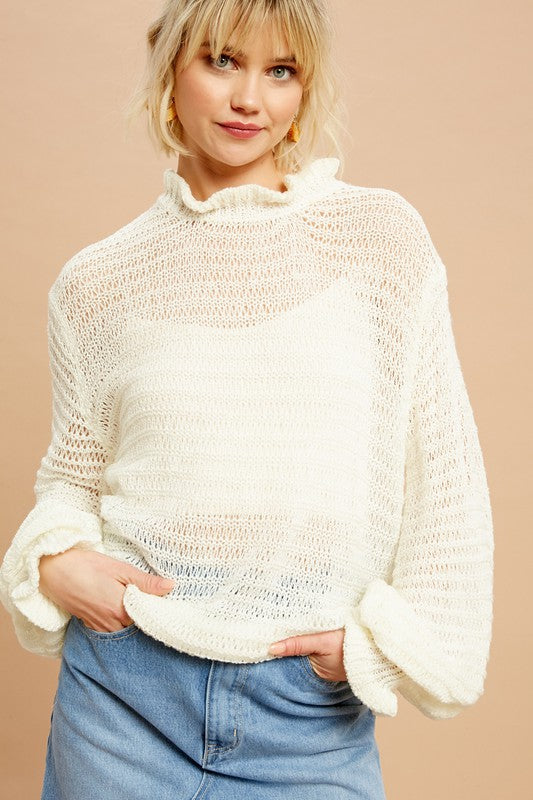 Sadie Sweater in Cream