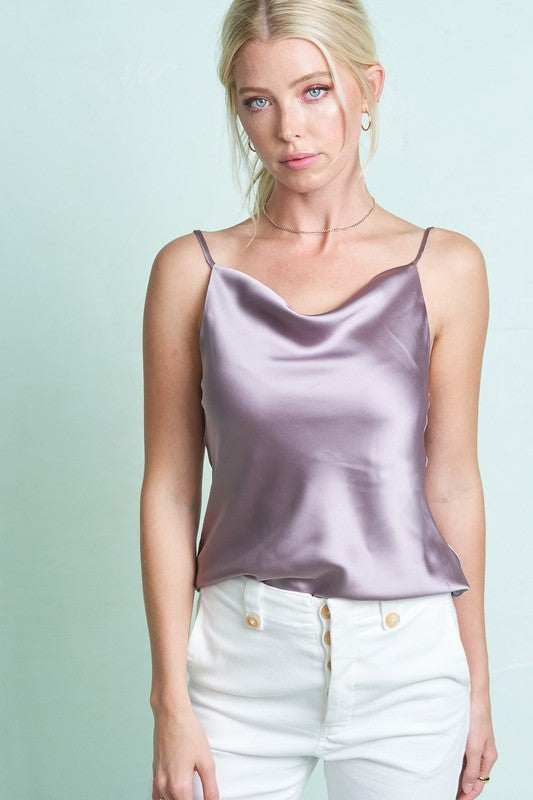 The Ultra Silk Cami Warm Grey