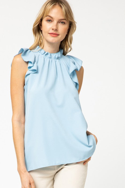 The Abigail Top in Baby Blue