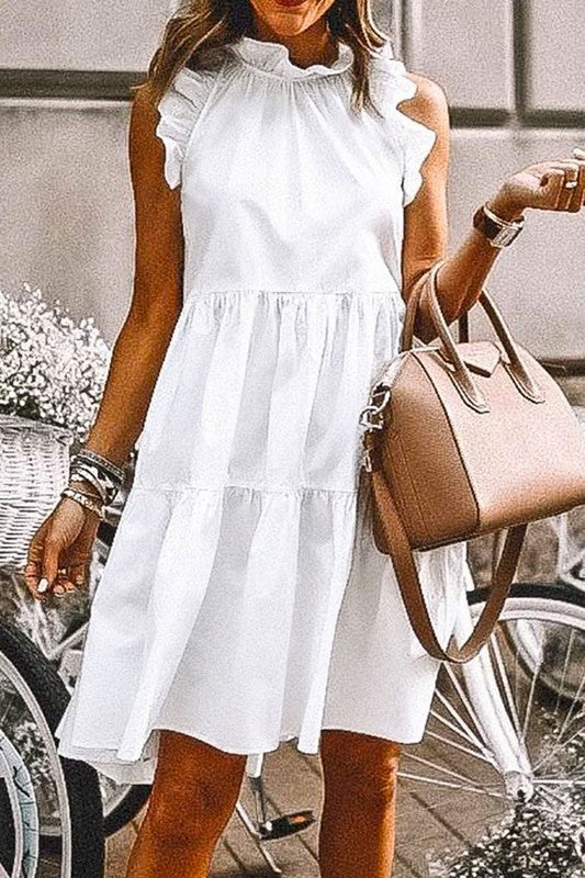 Chrissy Dress in White