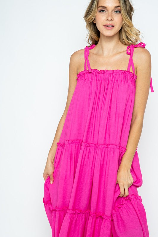 The Elizabeth Maxi Dress in Pink