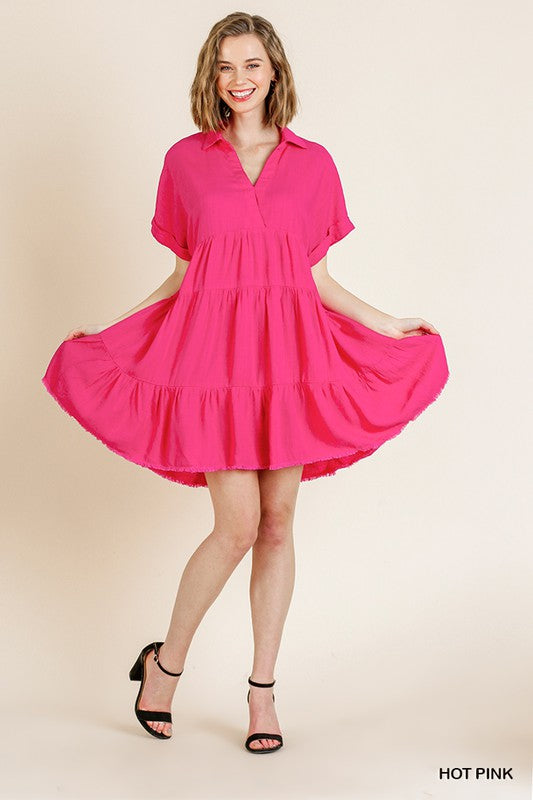 Fallon Dress in Hot Pink