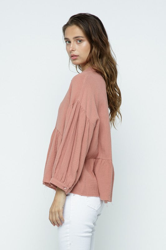 Rylee Top in Mauve