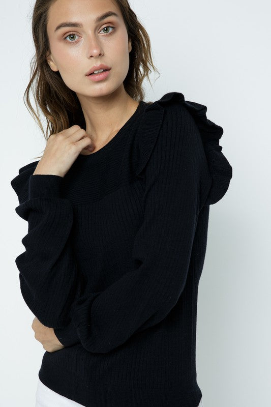 The Kate Sweater in Black