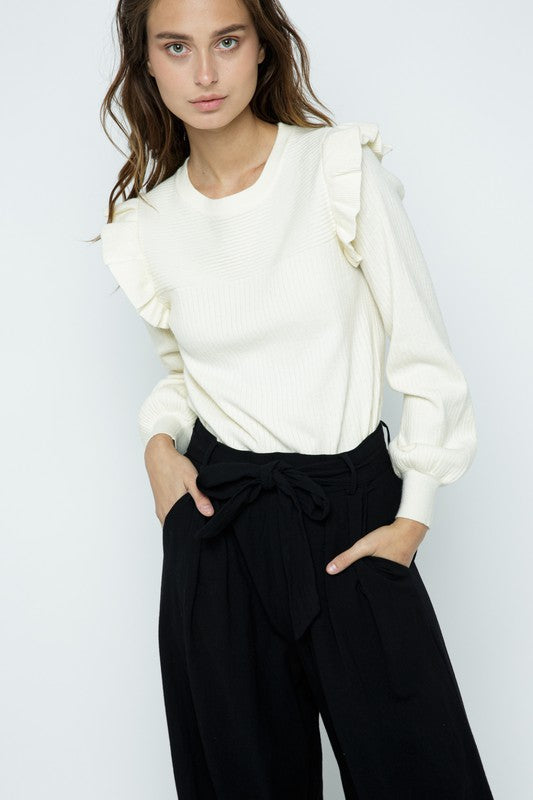 The Kate Sweater in Ivory