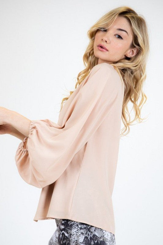 Danielle Blouse in Beige