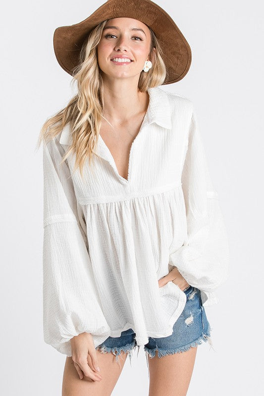 The Skylar Top in White