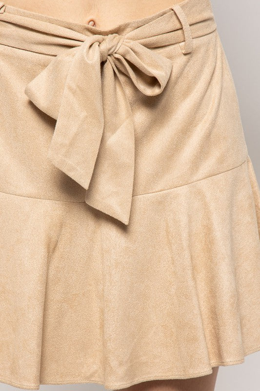 Ramsey Suede Skirt