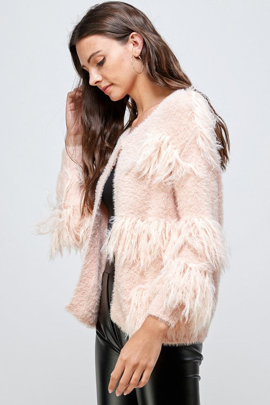 Amy Cardigan in Blush