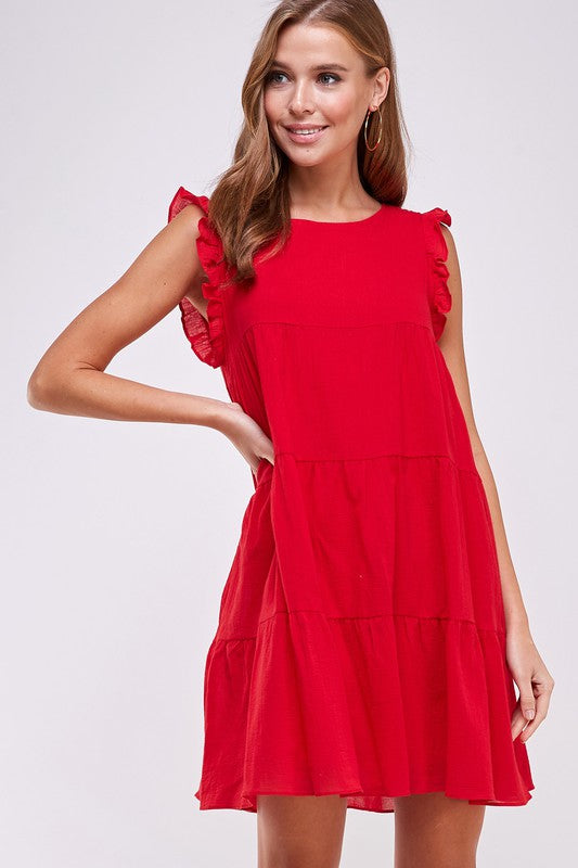 Mackenzie Dress in Red
