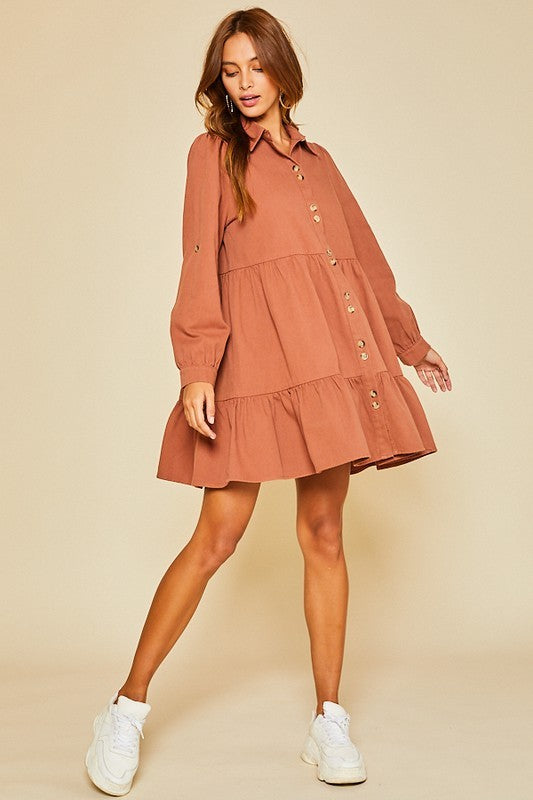 The Libby Dress in Rust