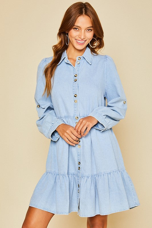The Libby Dress in Denim