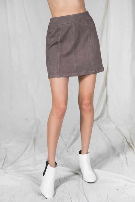Darcy Suede Skirt