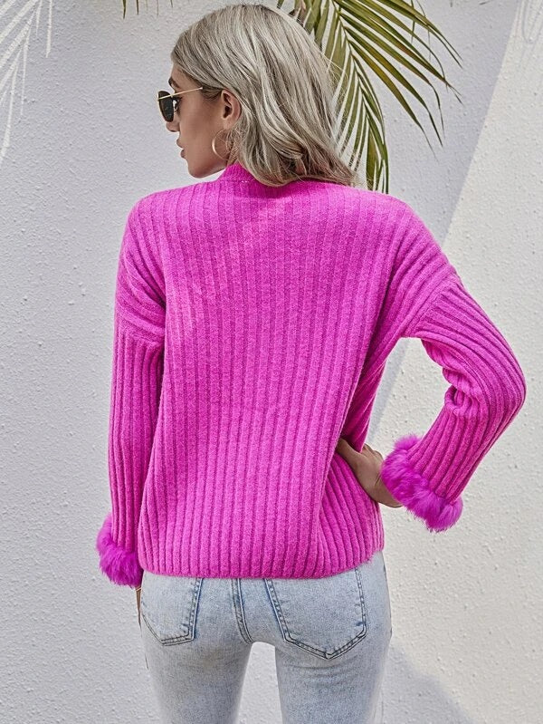 Aubrey Sweater in Hot Pink
