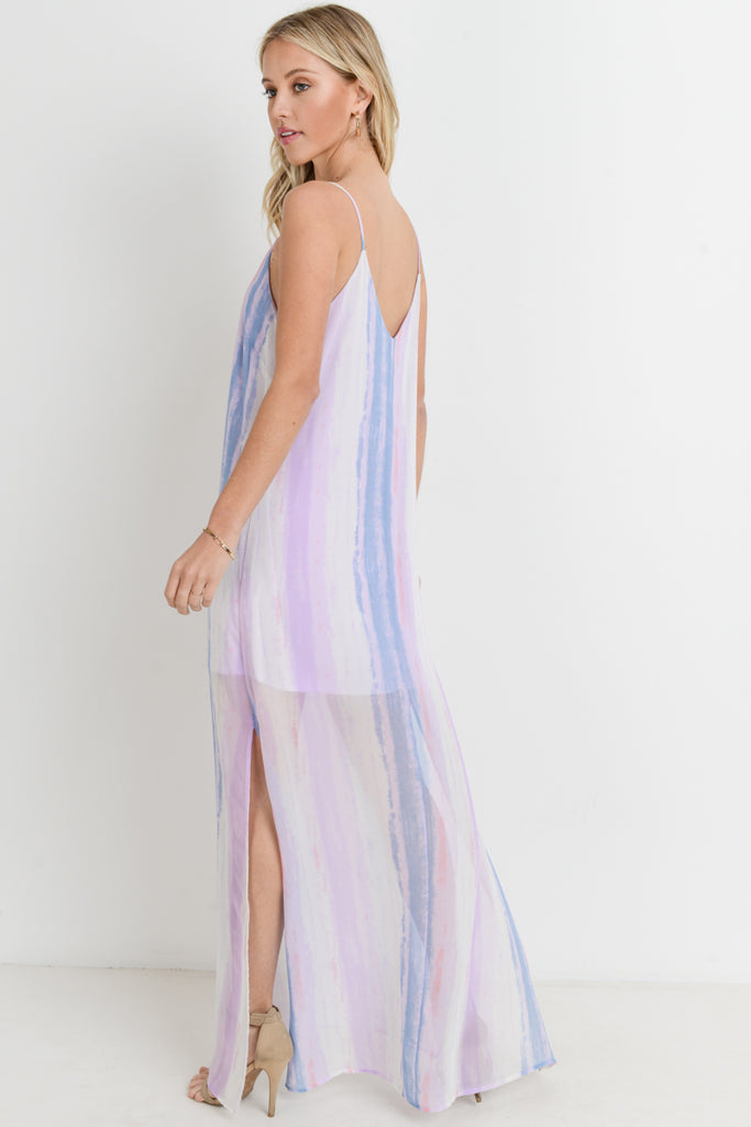 Cotton Candy Skies Maxi Dress Lavender
