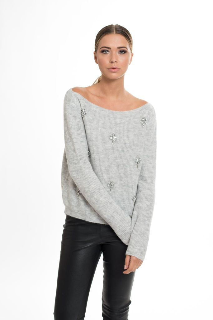 Cocktail Jewelry Diamonds Sweater