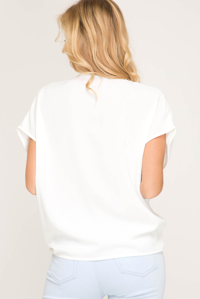 Twist and Tie Top White