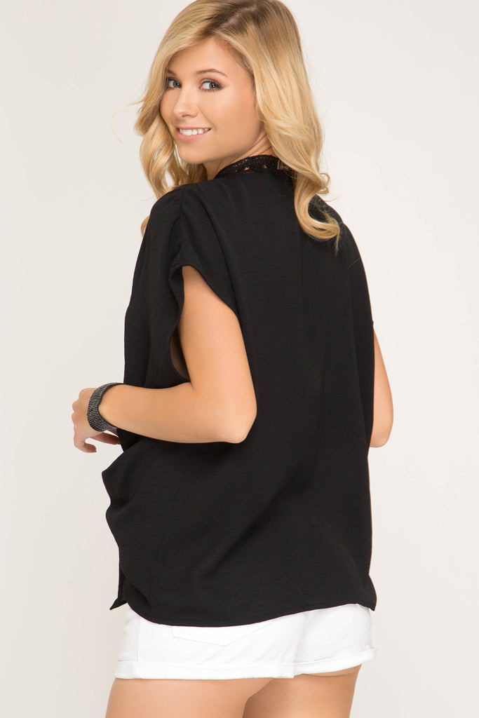 Twist and Tie Top Black