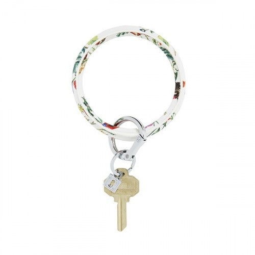 O-Venture White Floral Key Ring