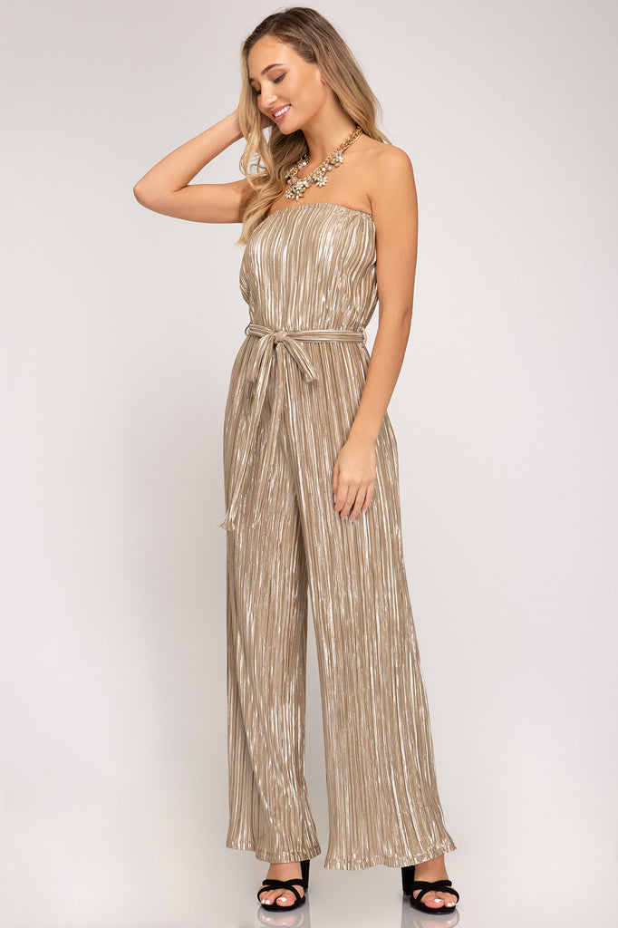 The Madison Jumpsuit Gold