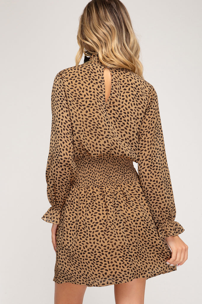 Never Look Back Dress in Camel