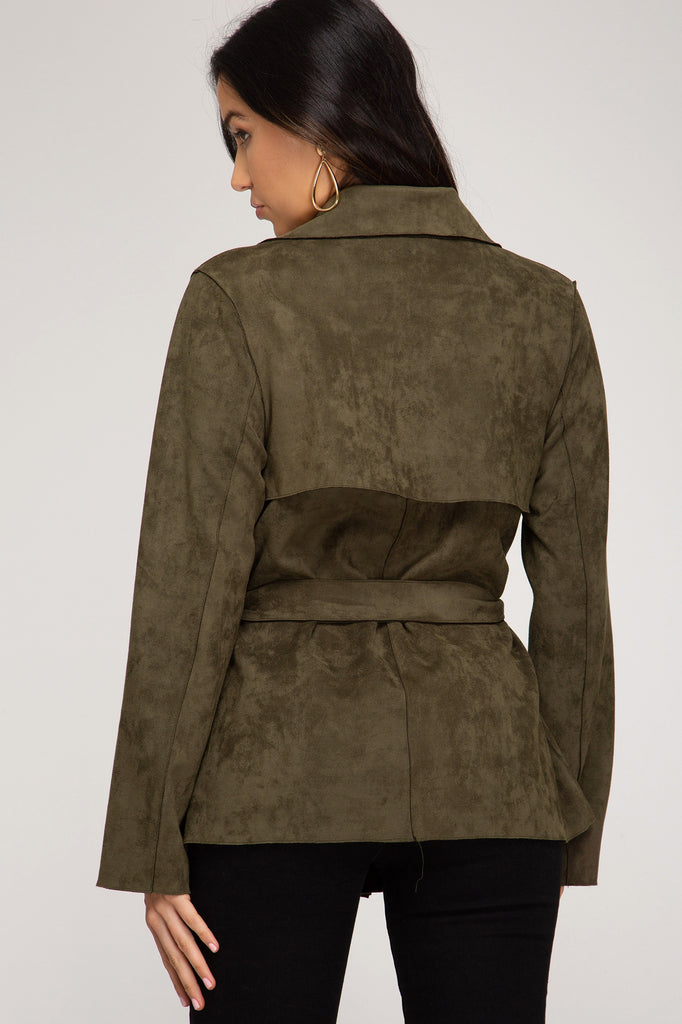 A Stroll Down 5th Avenue Suede Jacket
