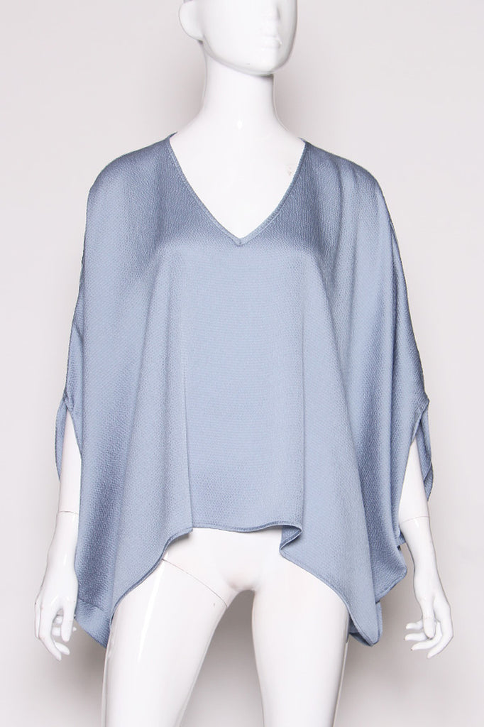 Go With The Flow Blouse Ocean Blue