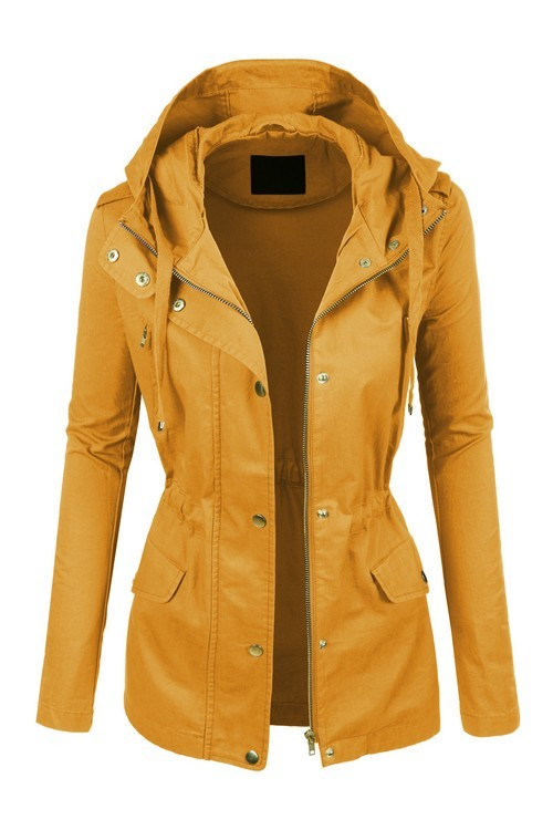 Utilize Your Time Utility Jacket Mustard