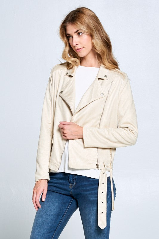 All I Ever Almond Moto Jacket