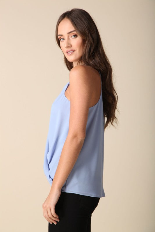 Twist and Shout Top Baby Blue