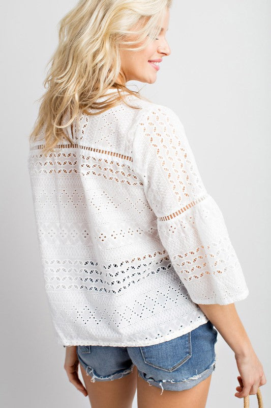 Crochet Cutie Top White