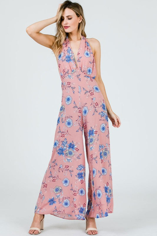 Groove With Me Jumpsuit Mauve