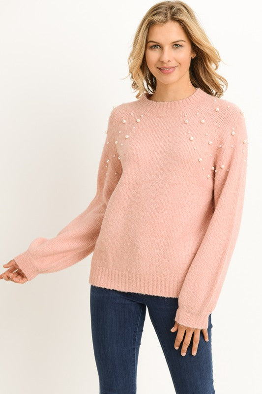 Sweet Mother of Pearl Sweater Mauve