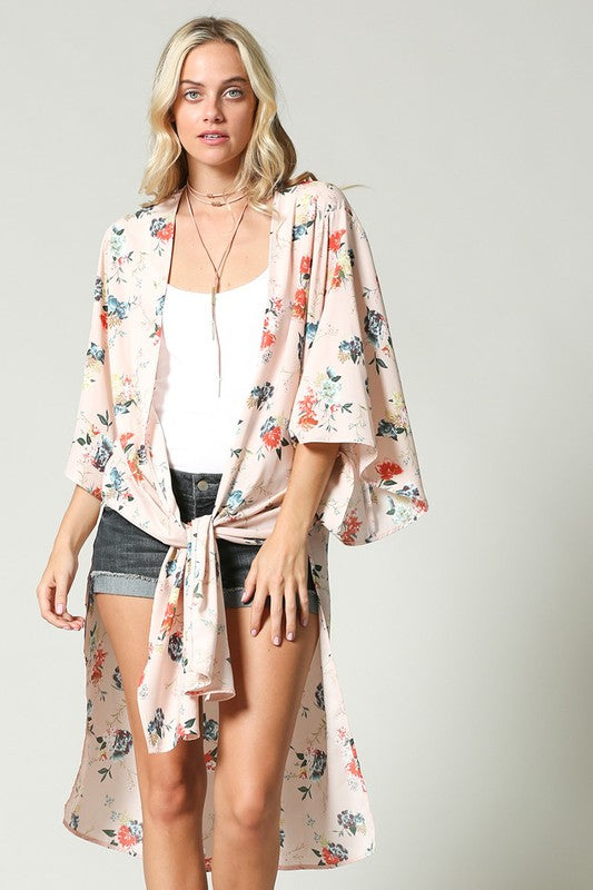 Stop and Smell the Roses Kimono