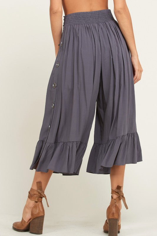 A Walk On the Beach Pants Charcoal