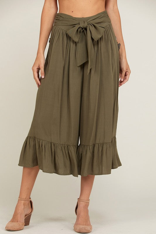 A Walk On the Beach Pants Olive