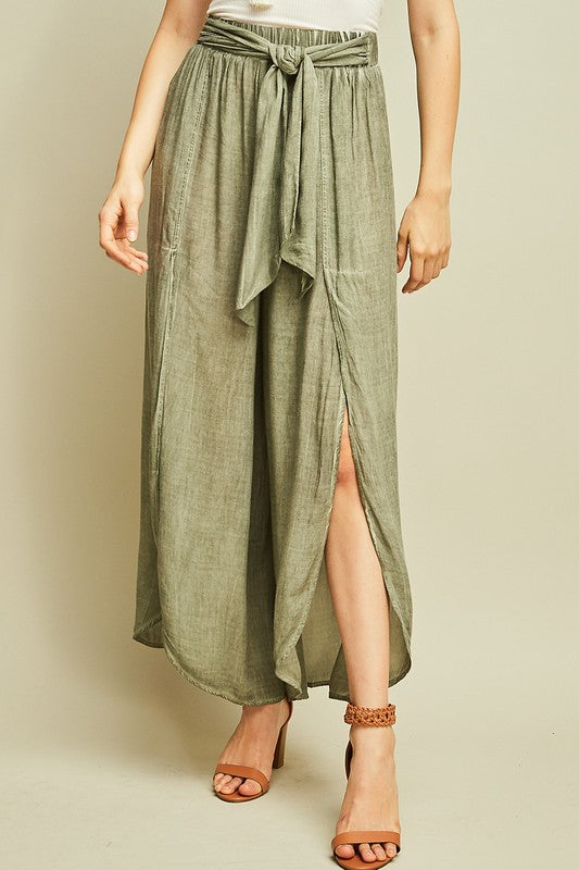 Tied To You Pants Olive Green