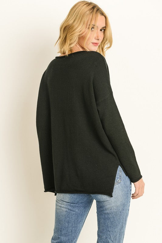 Hello Beautiful Sweater Black Plus Size