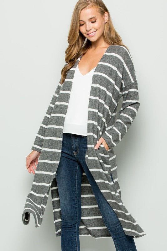 Cozy Up In the Cabin Cardigan Charcoal
