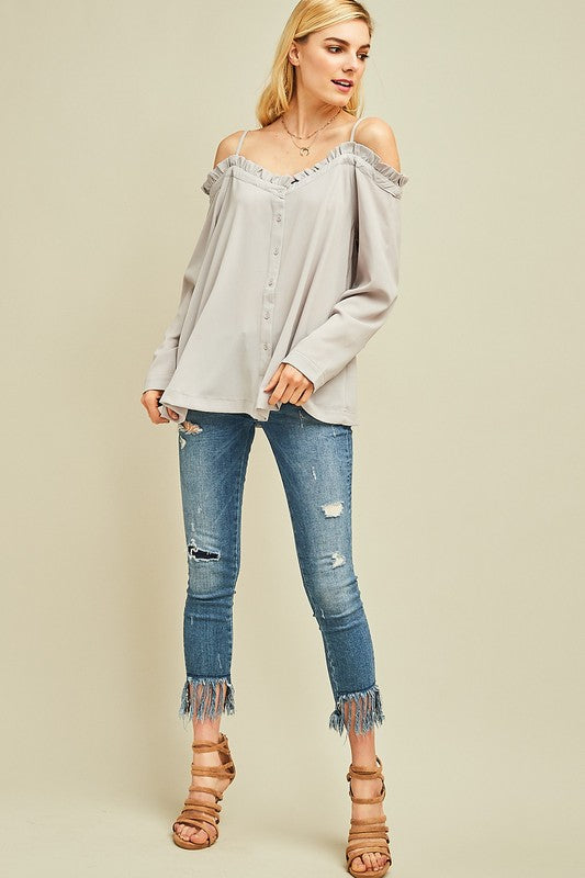 Sunday Funday Top Cool Grey