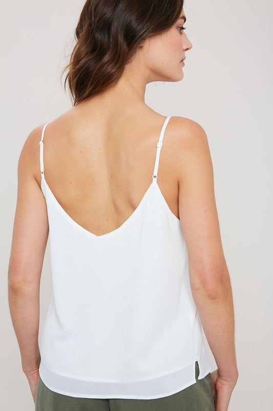 Basically In Love Tank Top White
