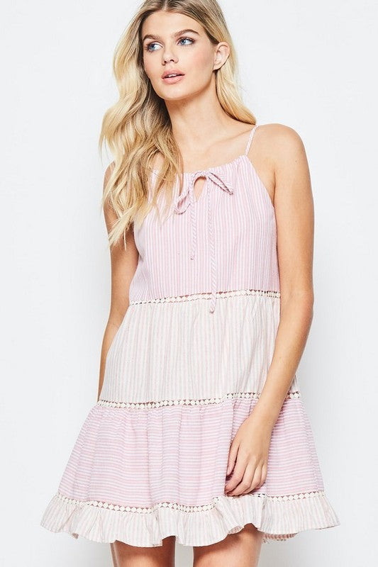Spring Has Sprung Blush Baby Doll Dress