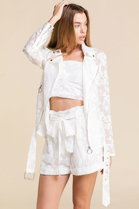 Stop and Smell the Roses Jacket White