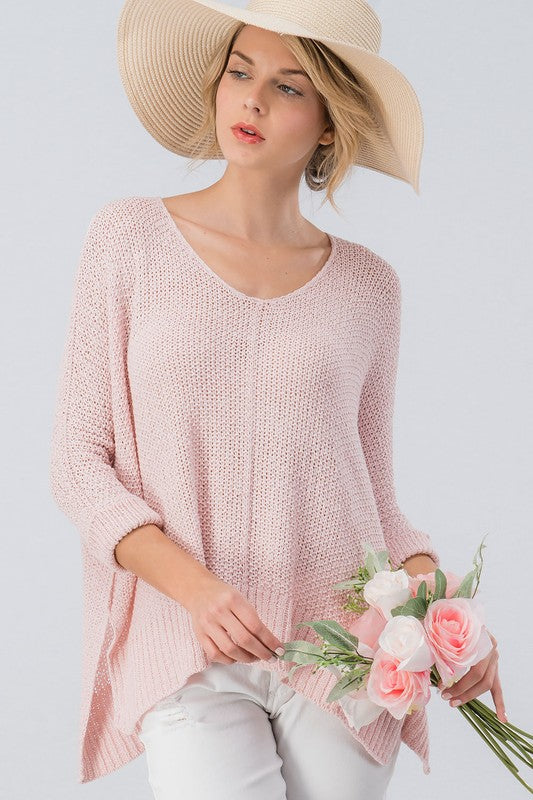 Knit Your Ordinary Sweater Pink
