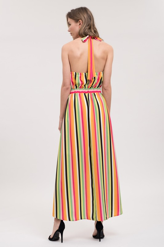 Stripe to the Nine Dress Pink/Multi