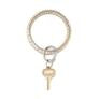 O-Venture Solid Gold Rush Croc Leather Key Ring