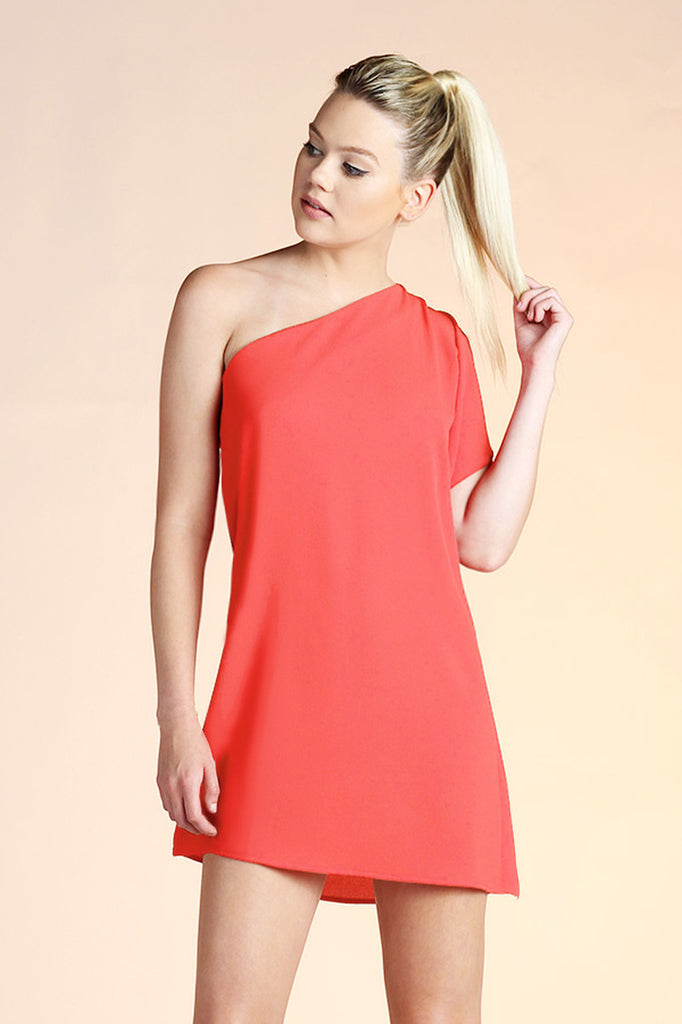 Take Me Away Dress Coral