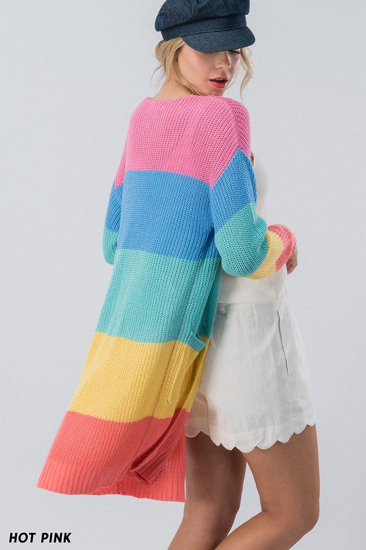 Colorful Cutie Cardigan Rainbow